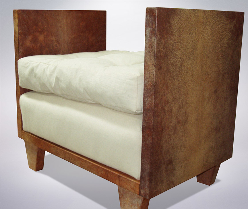 Jean Michel Frank Style Bench