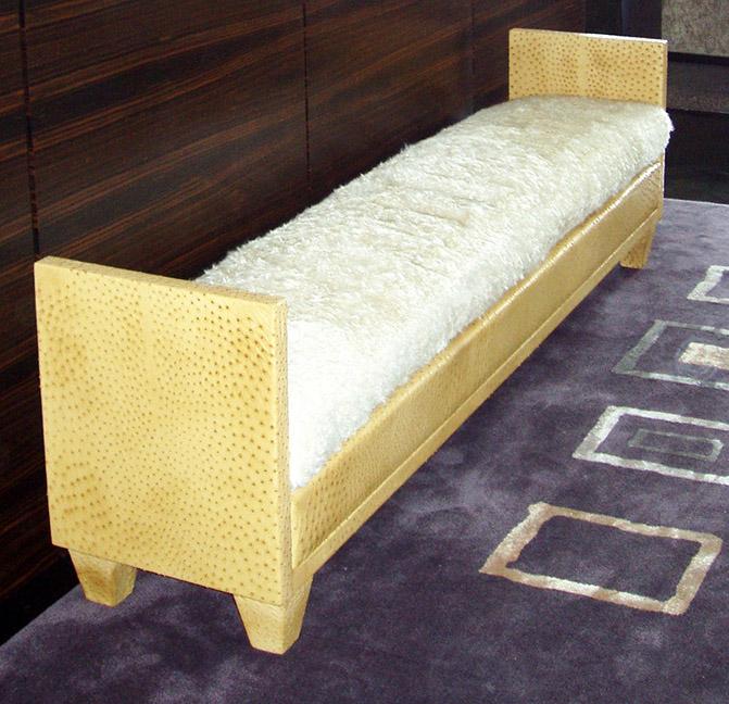 Custom JMF Ostrich Bench