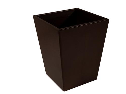 Dark Chocolate Leather Wastebasket