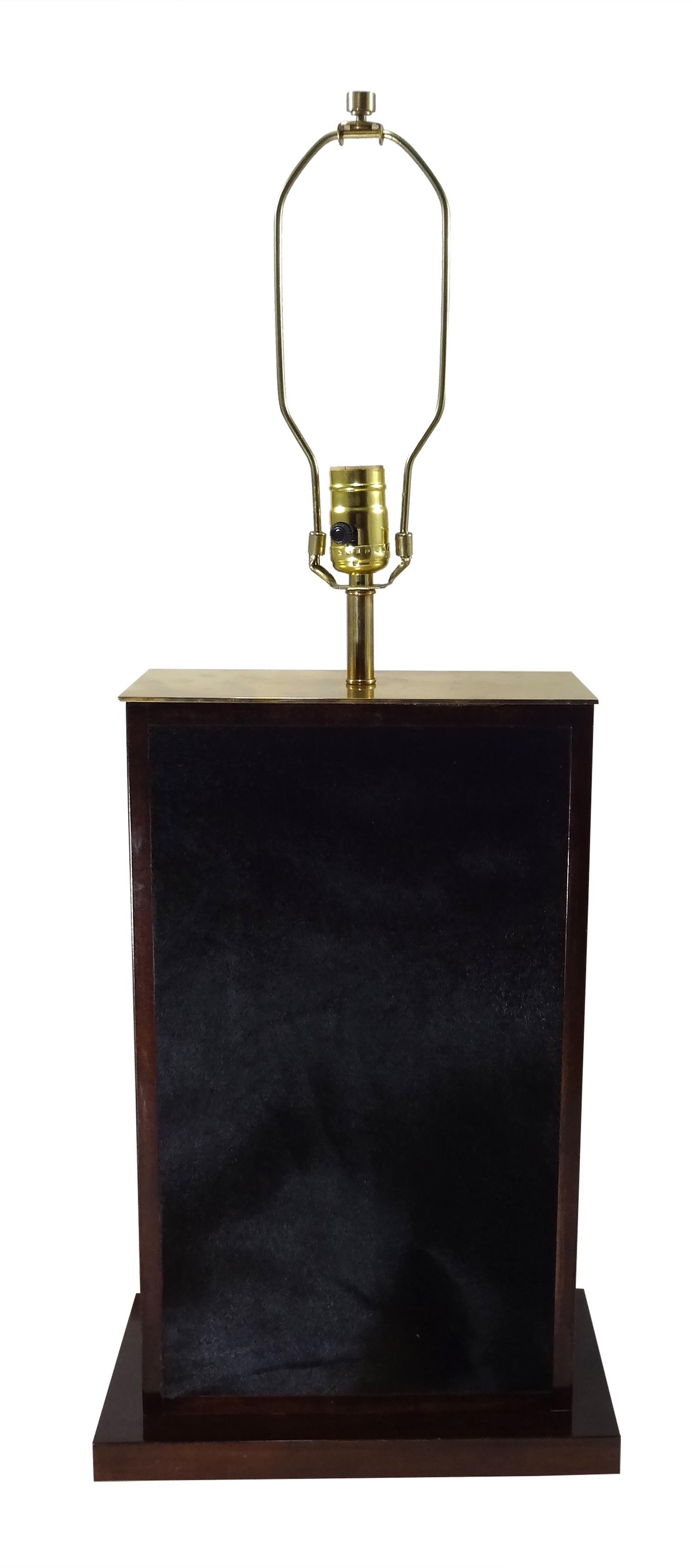 Large Tetra Negra Table Lamp Brass
