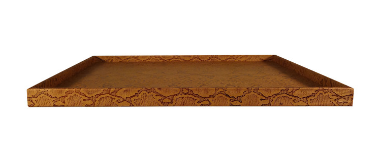 Embossed Python Leather Tray