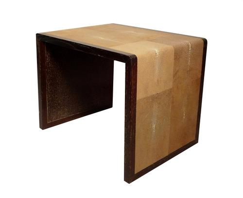 Brown shagreen Waterfall Side Table