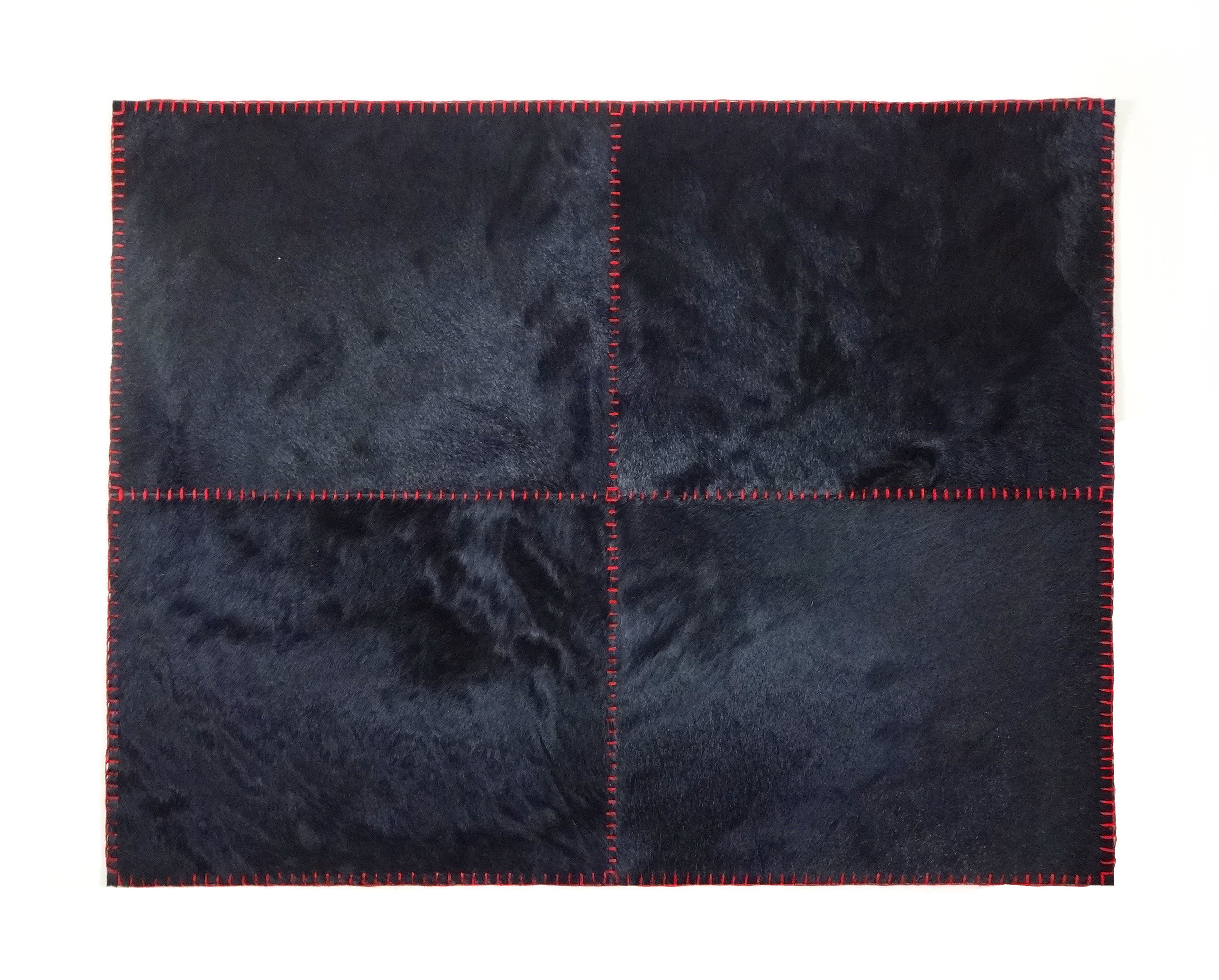 Stitched Black Cowhide