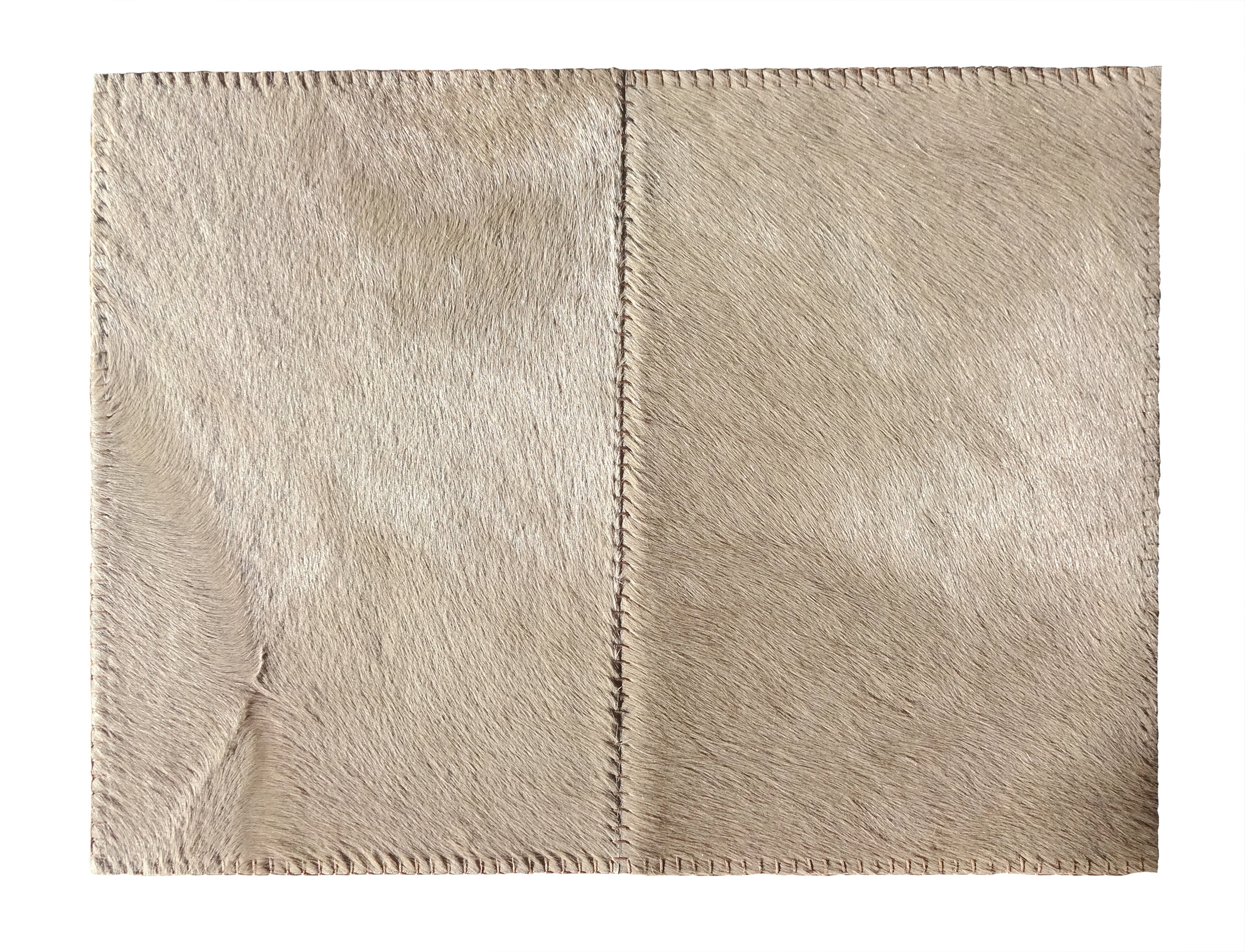 Stitched Taupe Cowhide