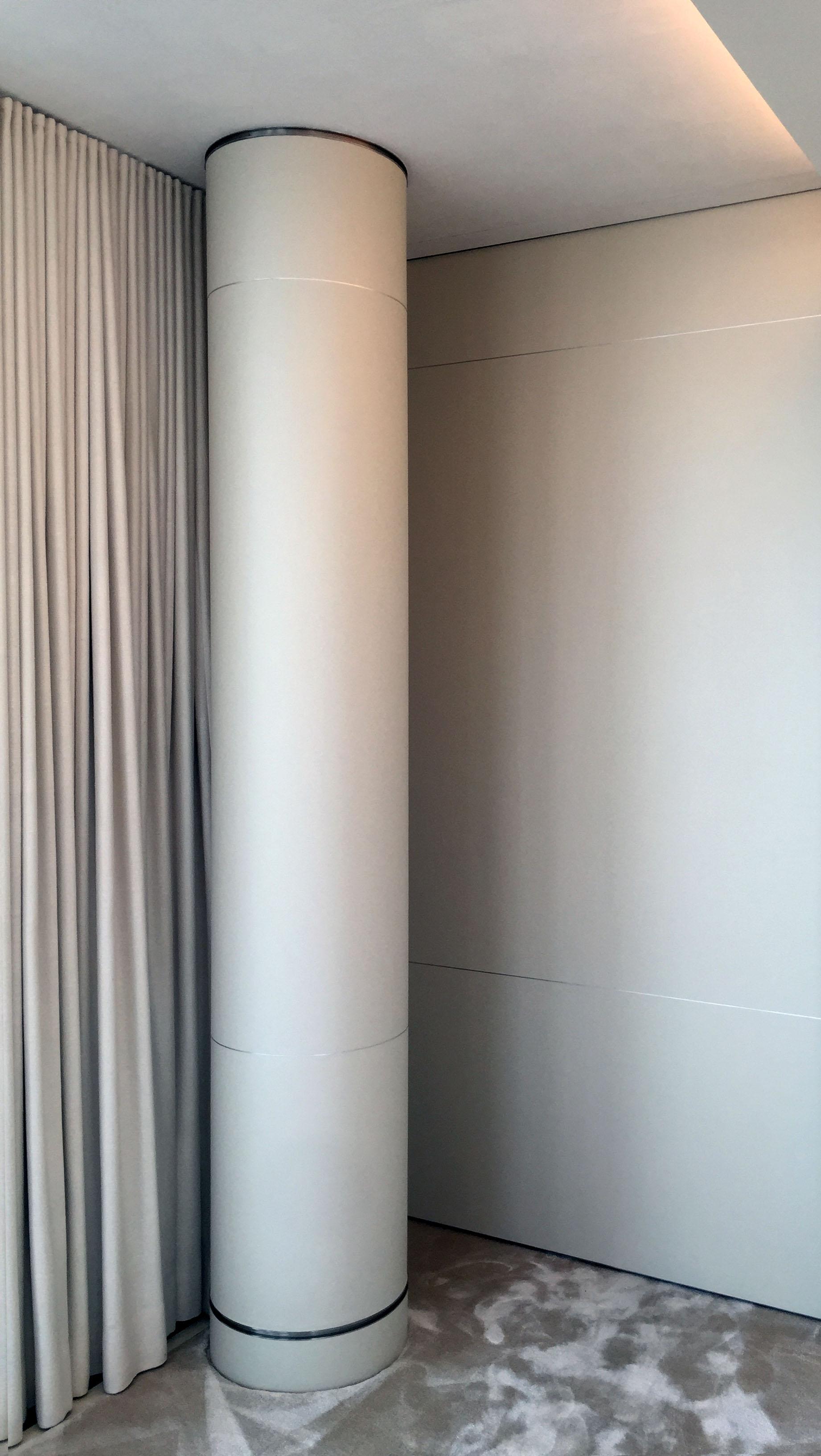 White Gilded Column