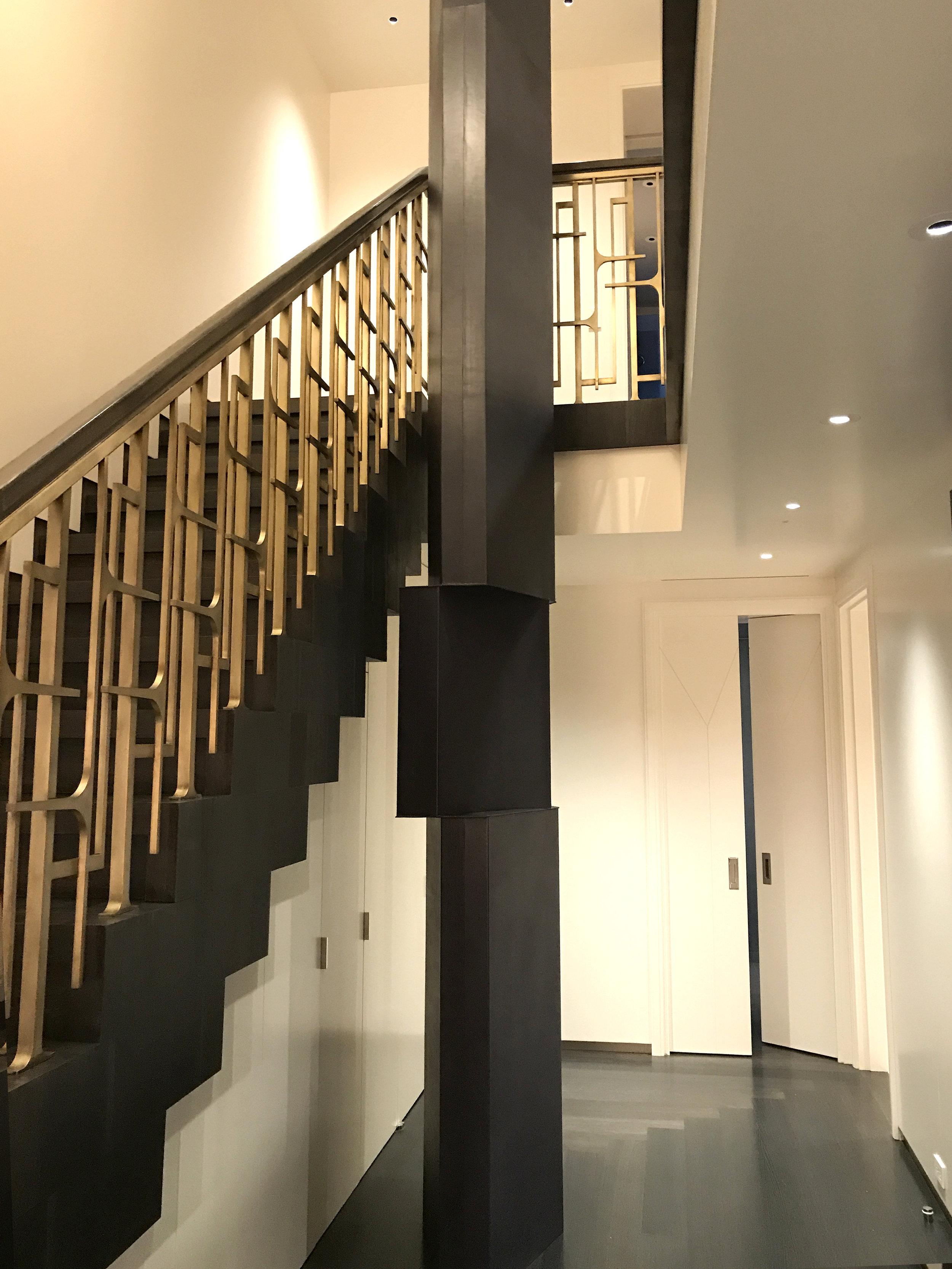 Geometric Leather Column