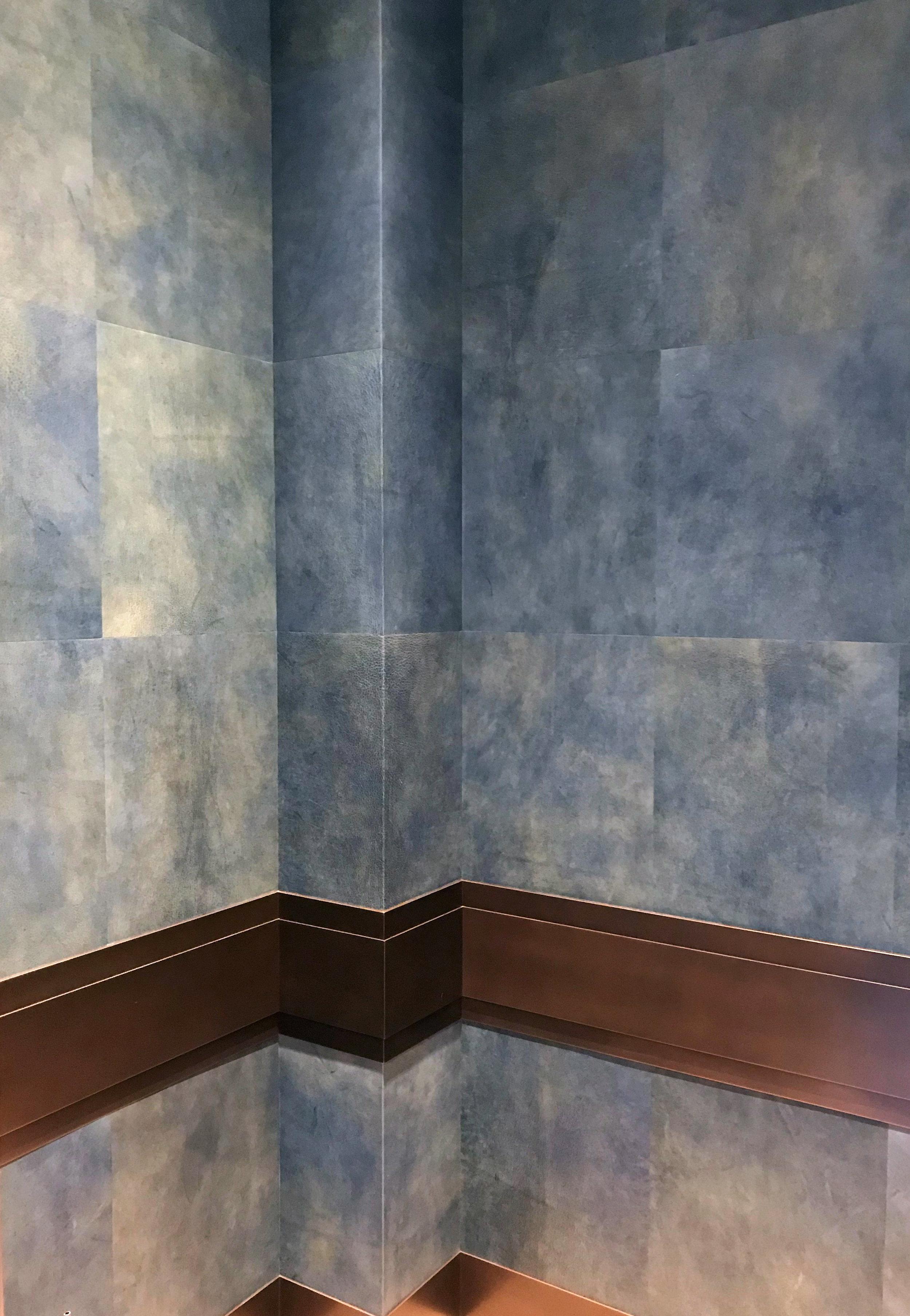 Blue Goatskin Powder Room