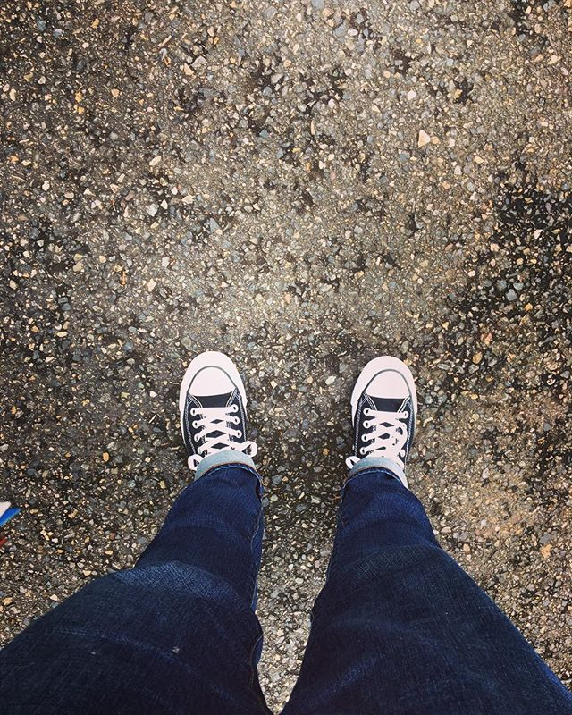 Clean chucks. A rare sight. New shoes in prep for my new song coming out later this week! #KeeperofTime #NewMusic #GetExcited