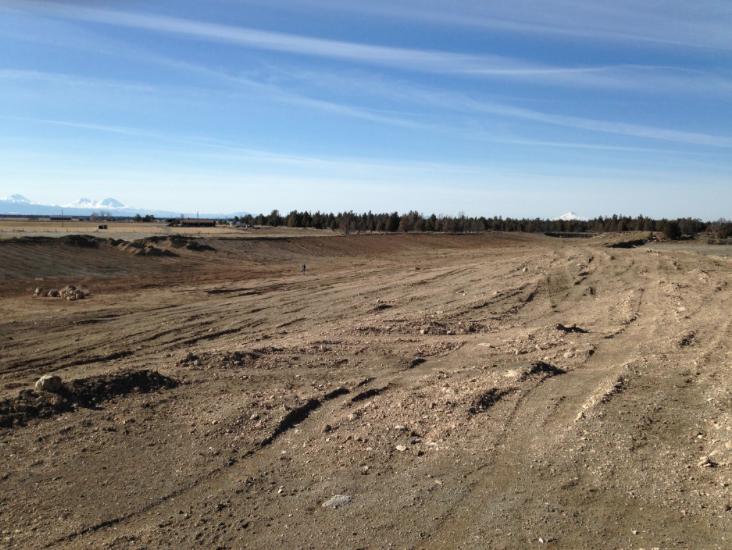 Aftermath of excavation in Alfalfa