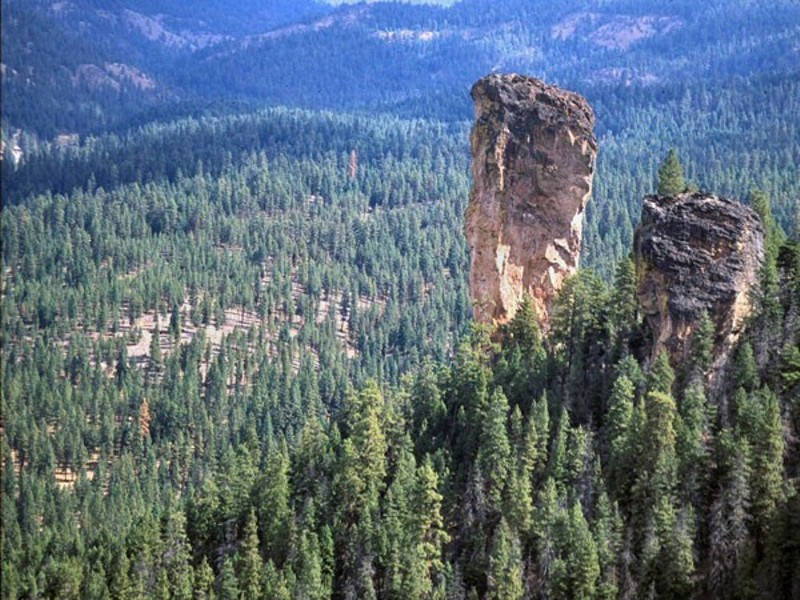 The iconic Steins Pillar in the heart of the Ochoco National Forest. Photo courtesy of the Bureau of Land Management.