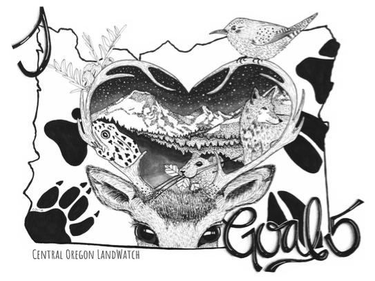 """""""I ❤️ Goal 5"""" artwork by local artist Corrine Oedekerk"""