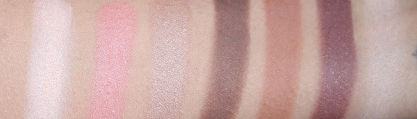 L-R: Illusion (highlighter), Visionary (blush), Driven (bronzer), Good Intentions, Fantasy, Utopia and Aspire