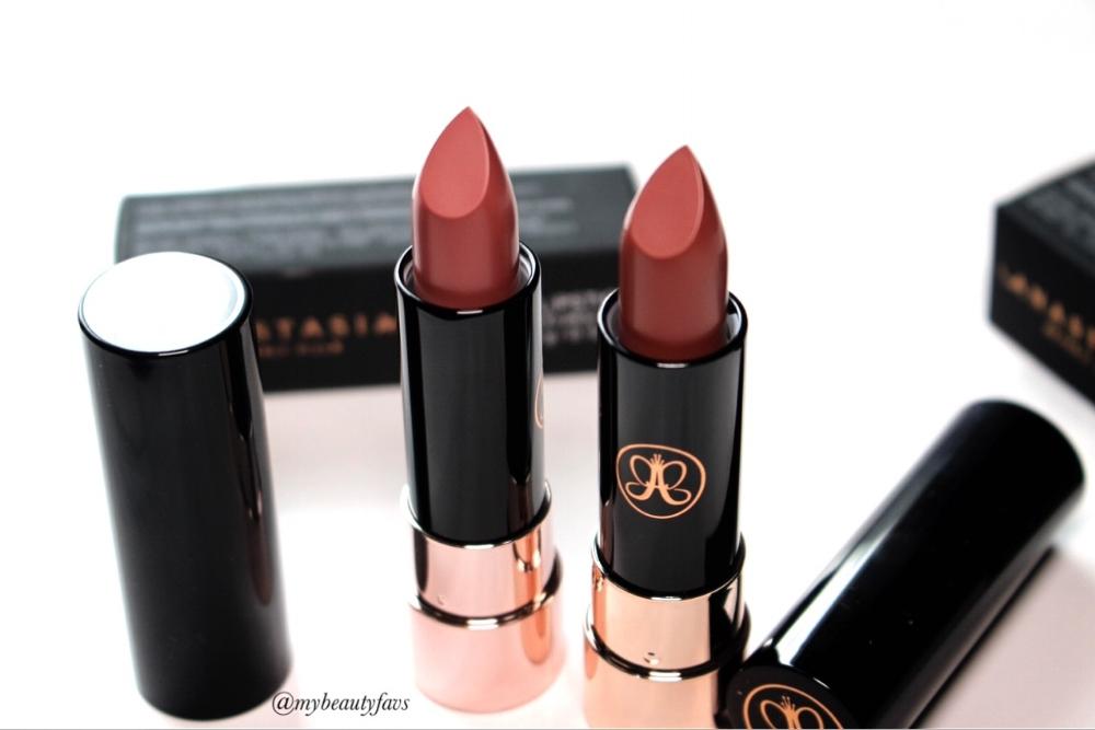 Anastasia Beverly Hills Matte Lipsticks Spice Kiss And Soft Pink