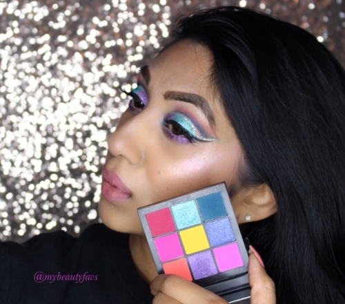 Here is the look I created using this palette.