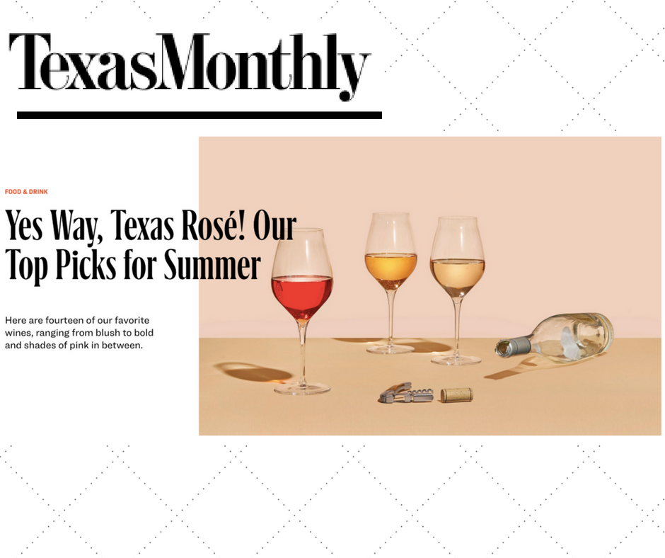 Texas Monthly Dandy Rosé Wine For the People texas wine.png