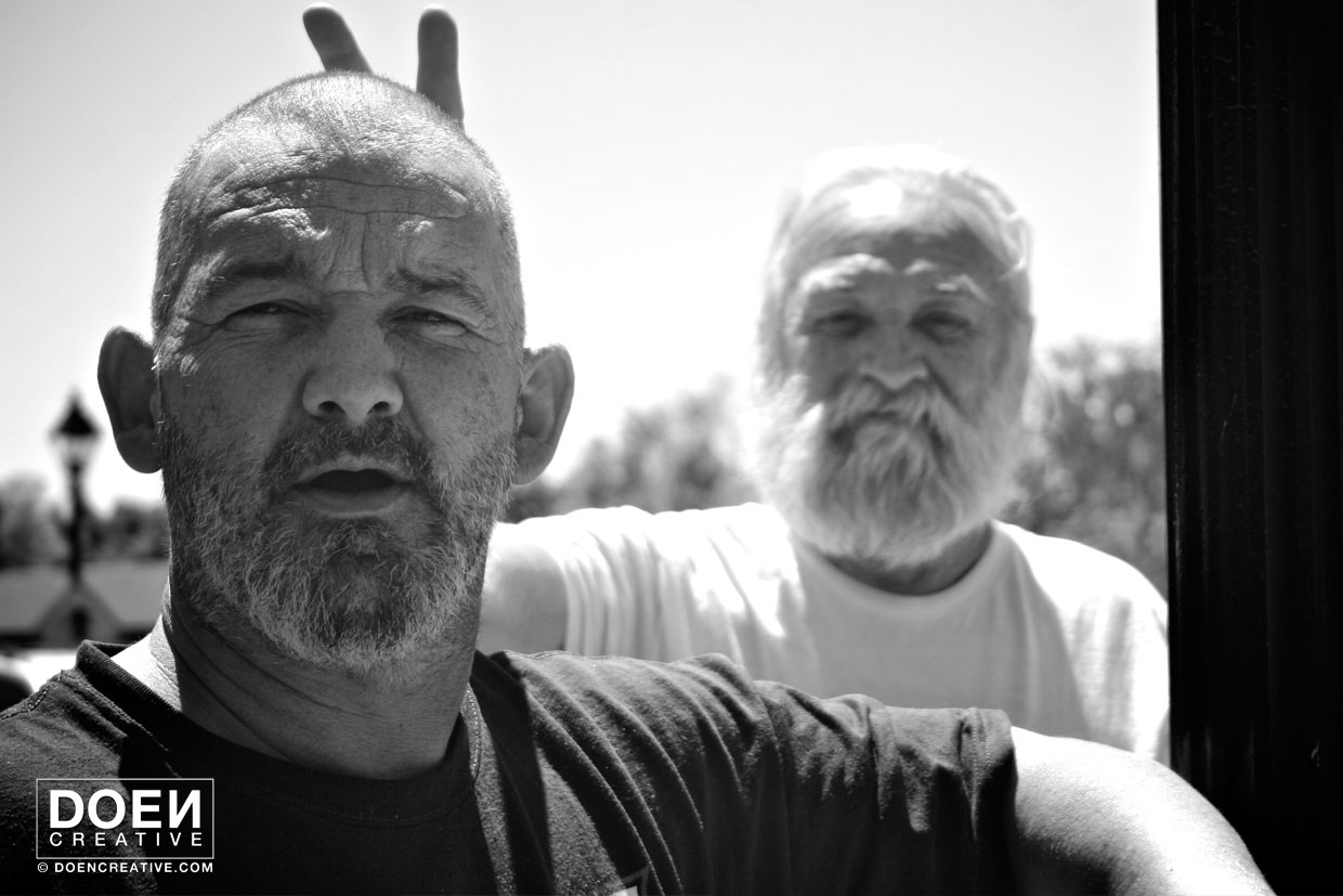 doencreative photography portrait of bearded males