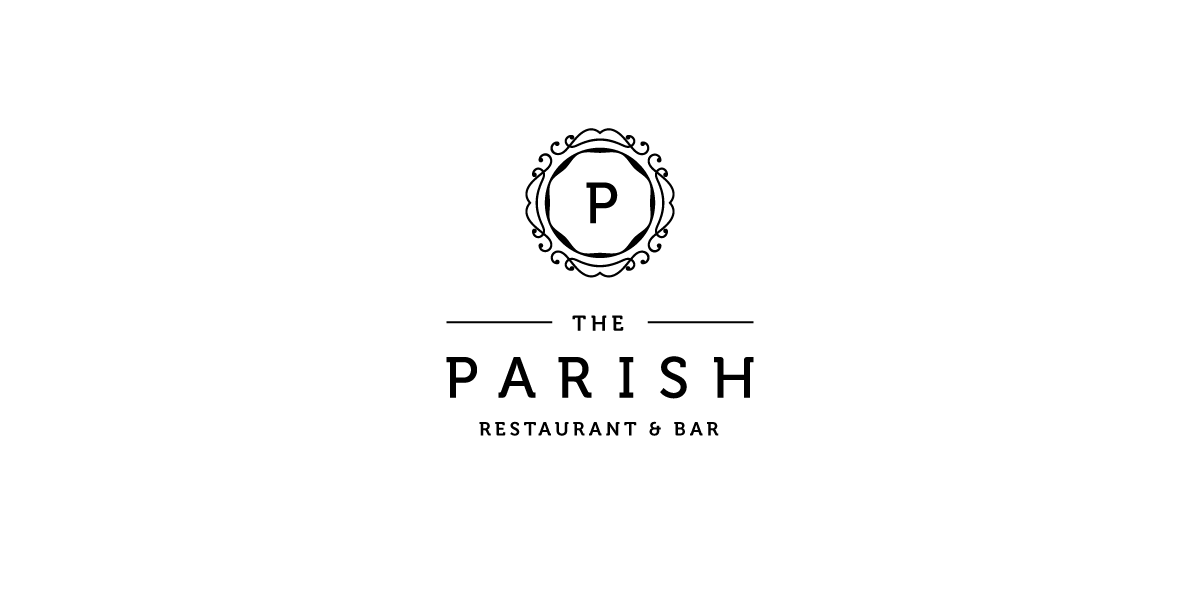 Doen Creative logo design The Parish Restaurant