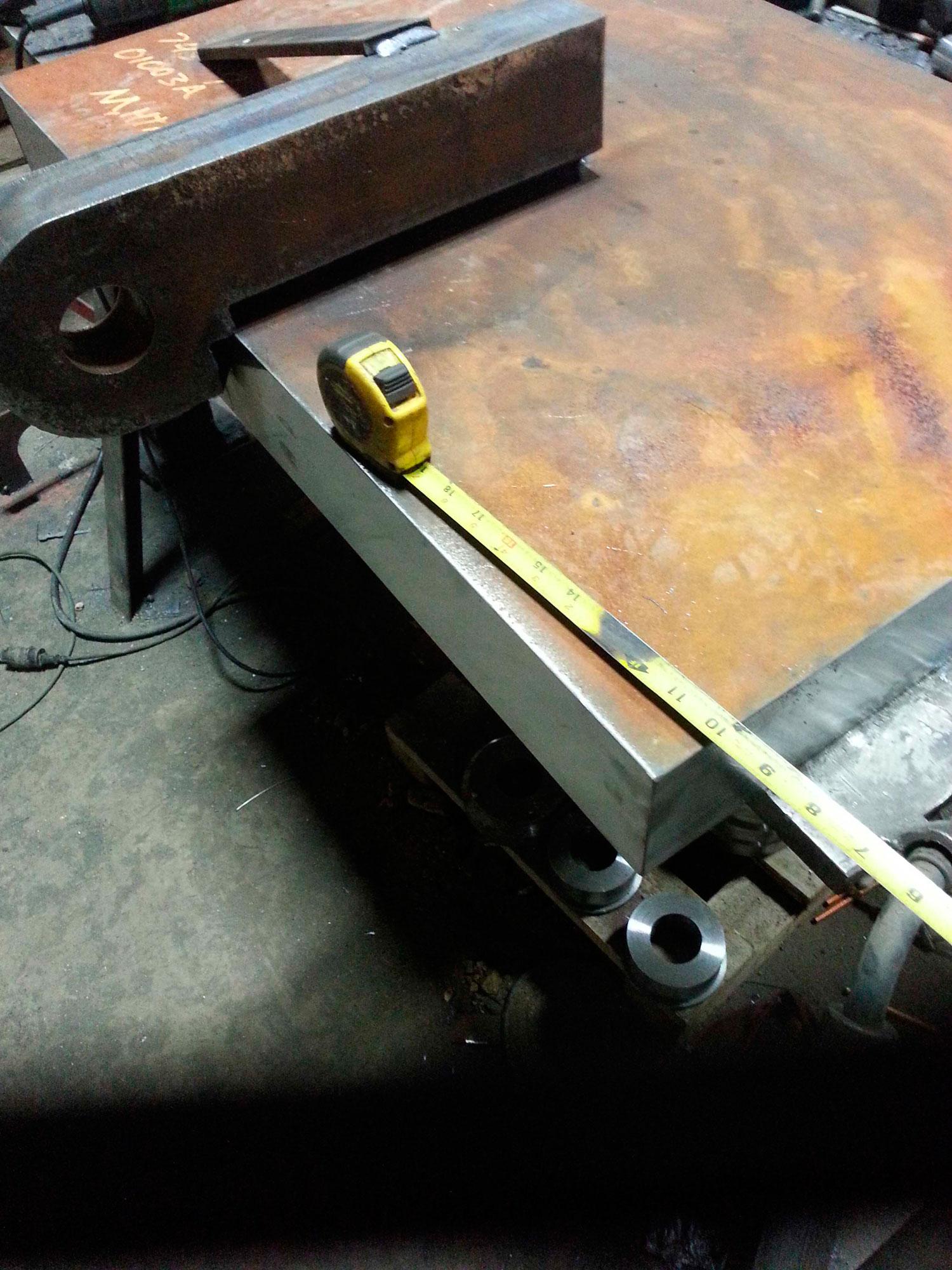 2-inch plate bevel for welding
