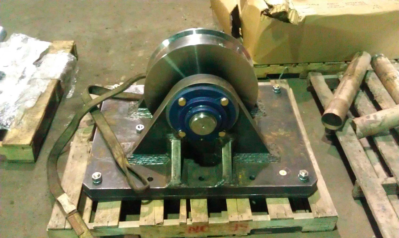 Bogey wheel for large conveyer Uintah Machine