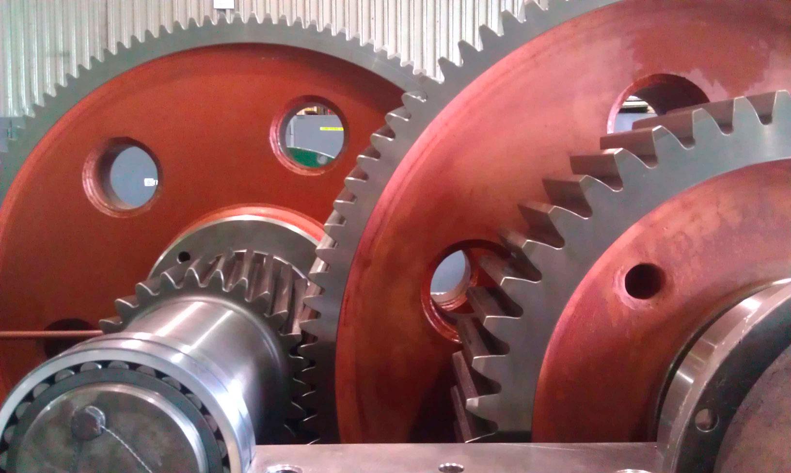 Gear box for rotary shear at Nucor