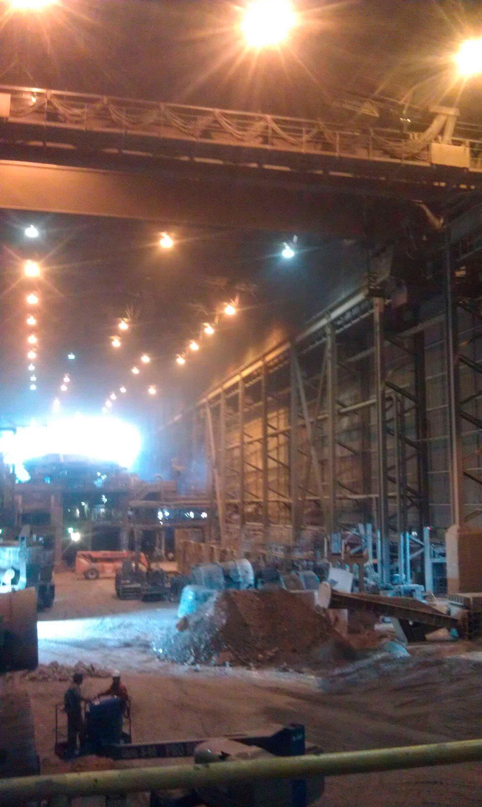 Nucor steel mill shut down