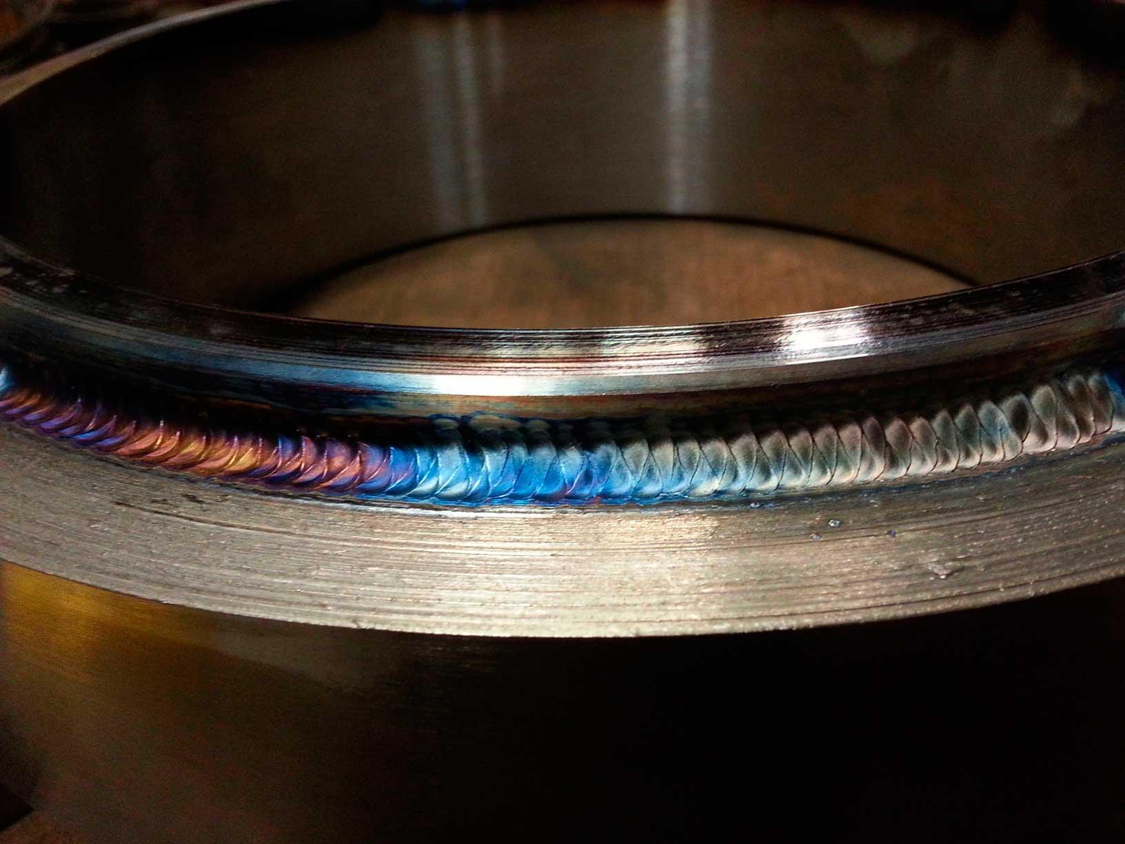 TIG weld on slewing bearing