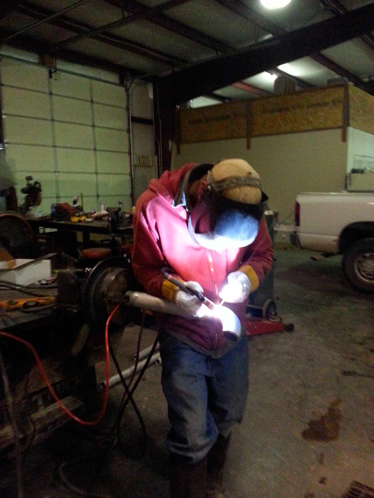 TIG welding off of rig