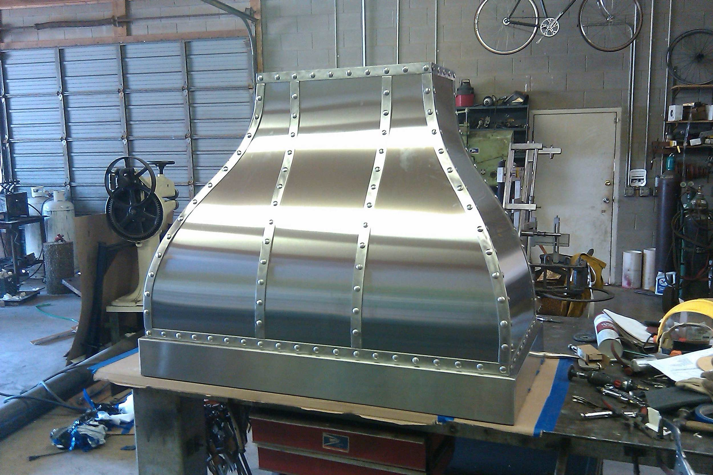 San Francisco, CA. Stainless hood. (1 of 2)