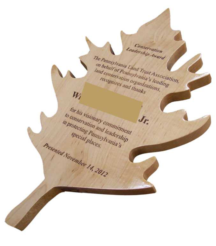 Custom Plaque Leaf Shape