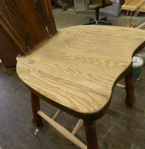 Raw chair seat