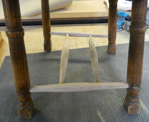 Spindles attached