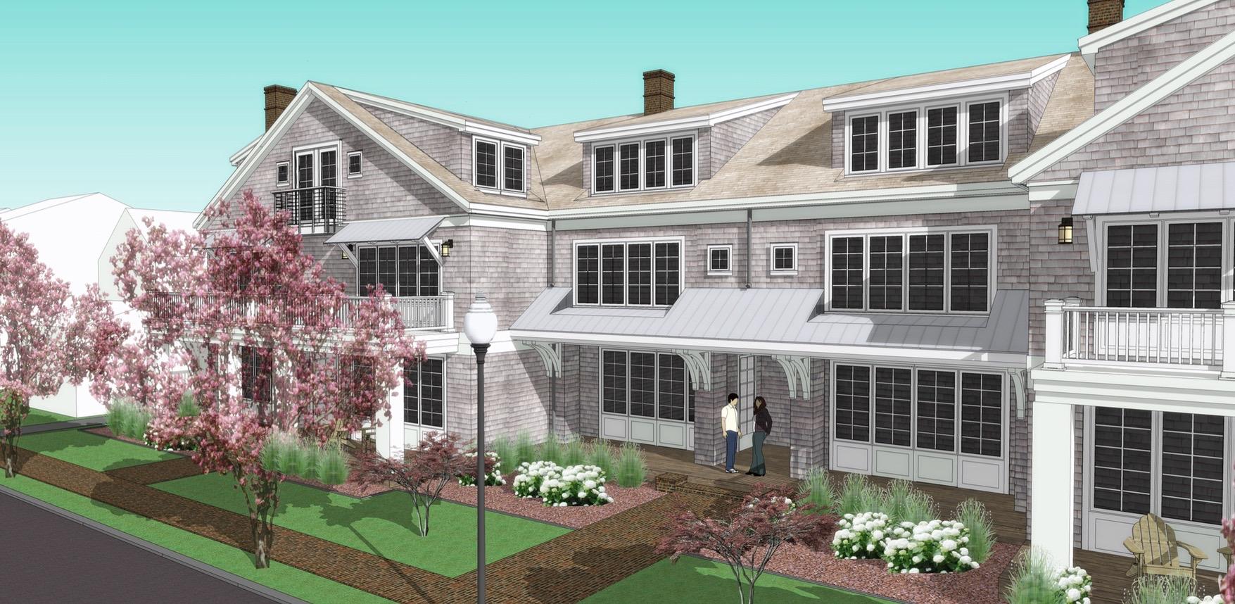 Townhome-like residences along Chesapeake Avenue