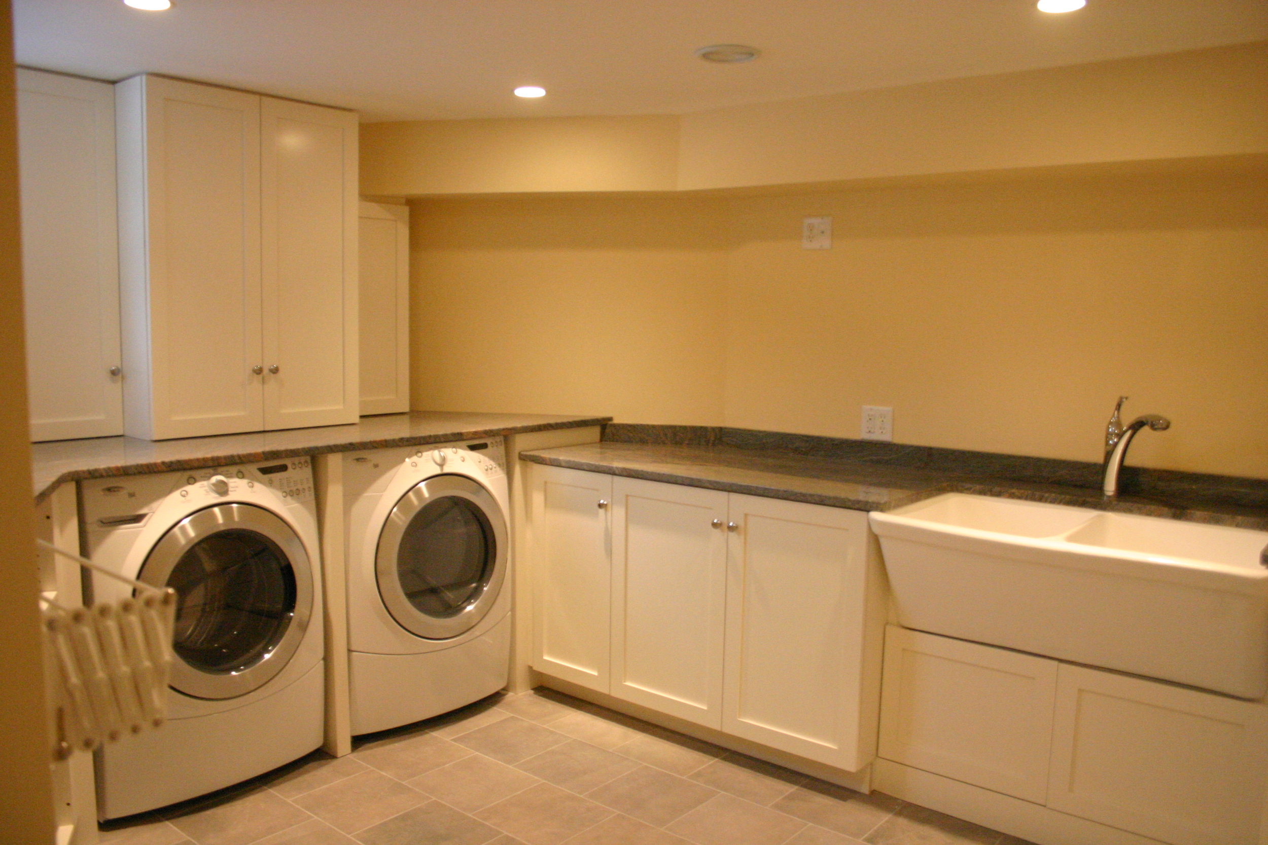 basement laundry renovation