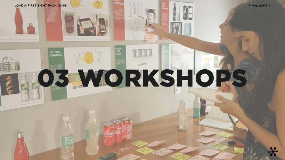 Foram realizados 3 workshop de co-criação durante o projeto para geração de insights. Os workshops foram realizados com até 15 pessoas cada, todos na sede da Tátil Design, em São Conrado.