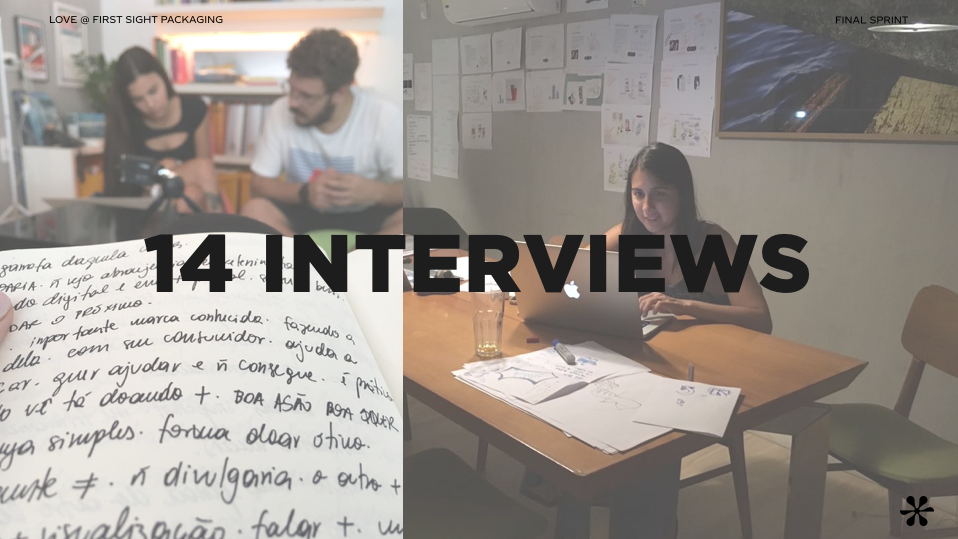 Fizemos um total de 14 entrevistas em profundidade com o público-alvo para compreender suas necessidades