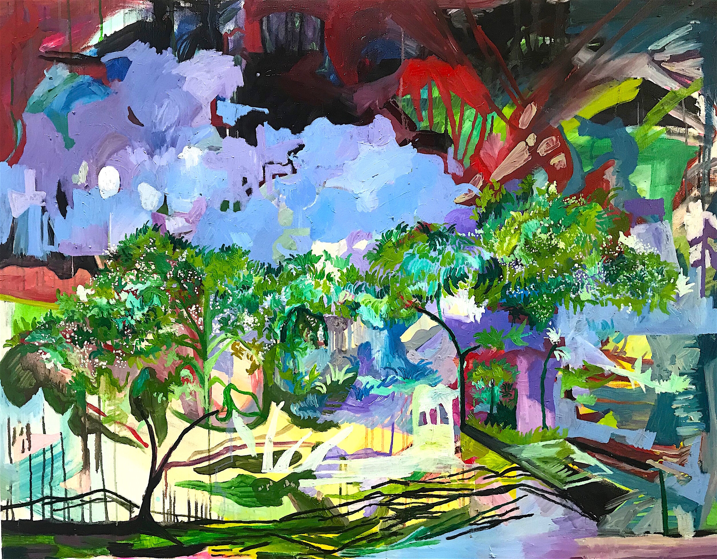 The Sky is a Pond (oil on canvas, 130x100cm)