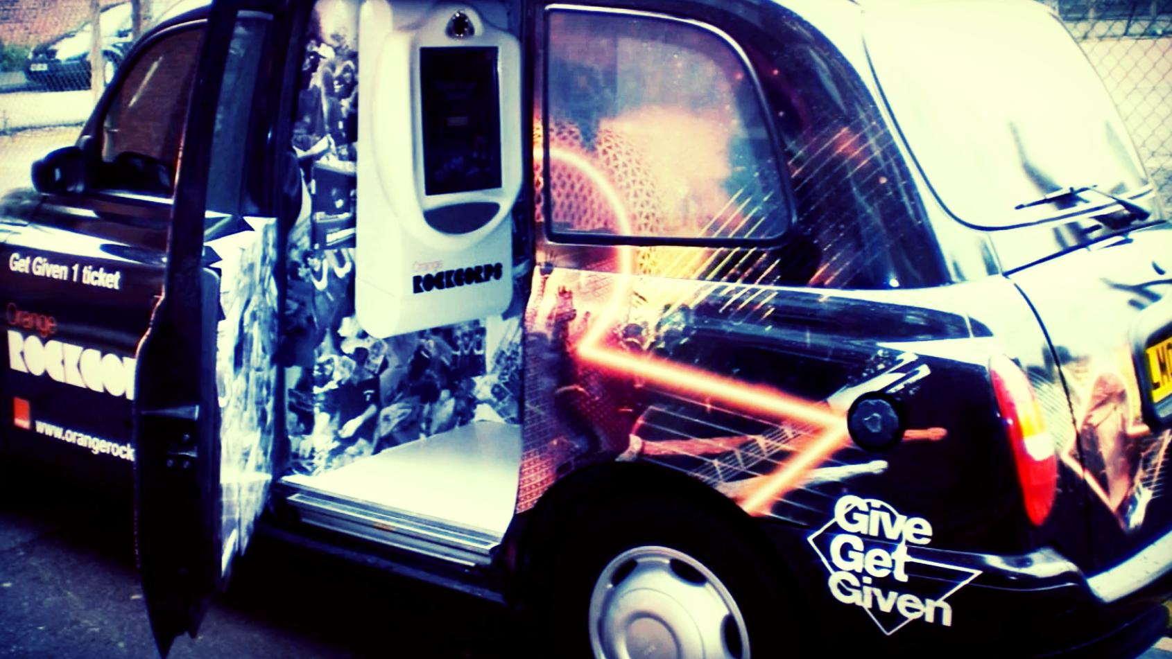 'Sound of Orange RockCorps' taxi – one part of an award winning brand activation