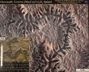 (3D) Spinel, by Matthew Sullivan & Daniel Mumm, University of California, Irvine. Best of Show.