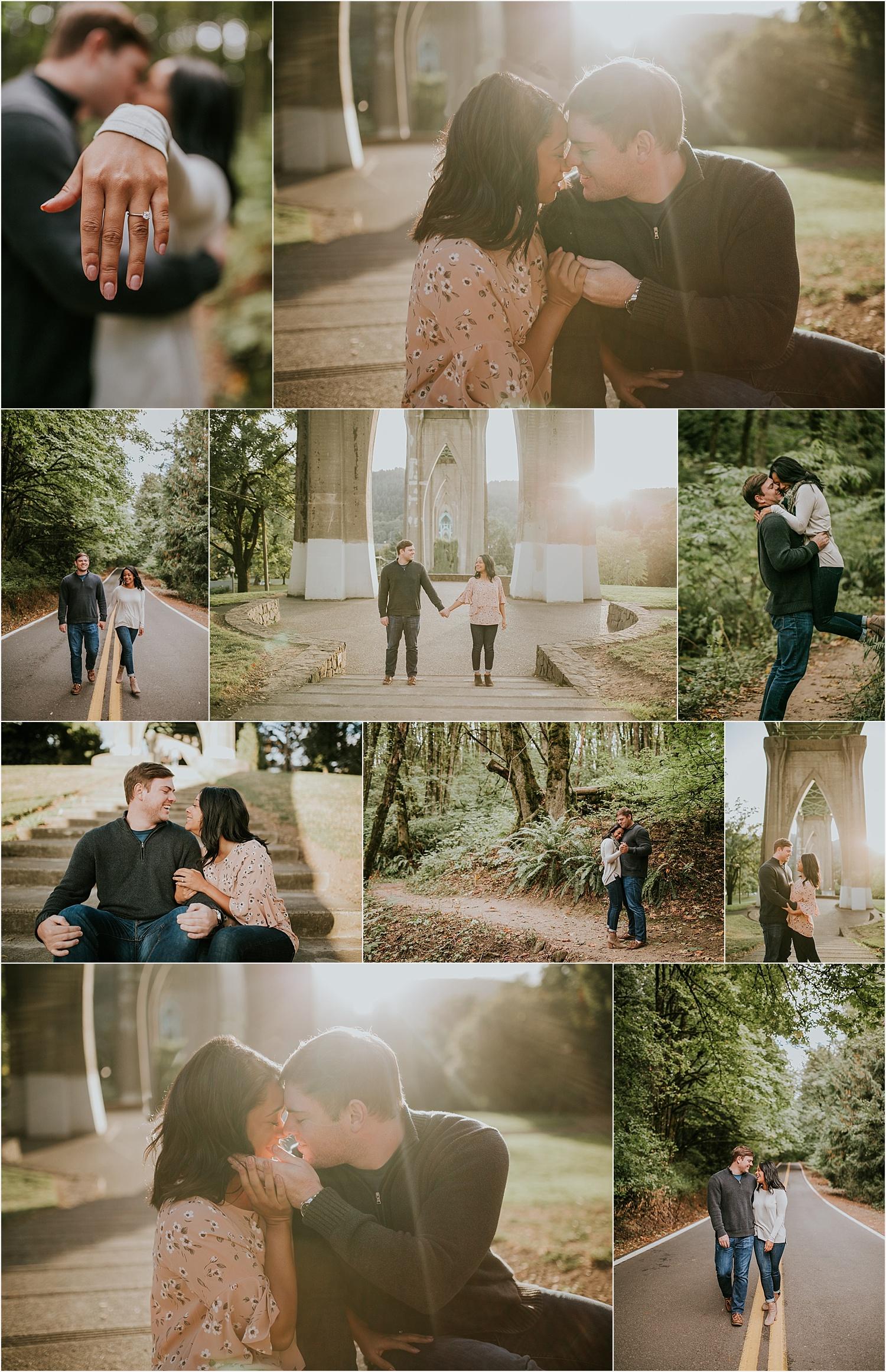 Portland Oregon Cathedral Park Forest Park Engagement