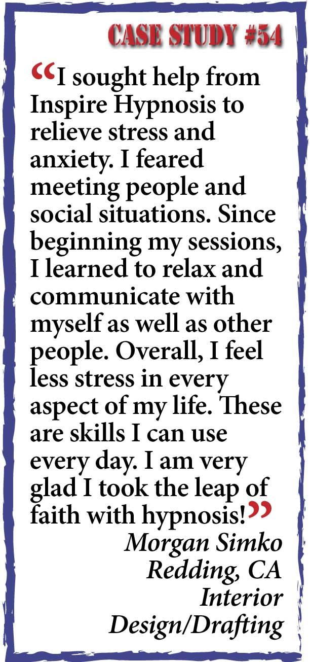 inspire hypnosis case study #54.