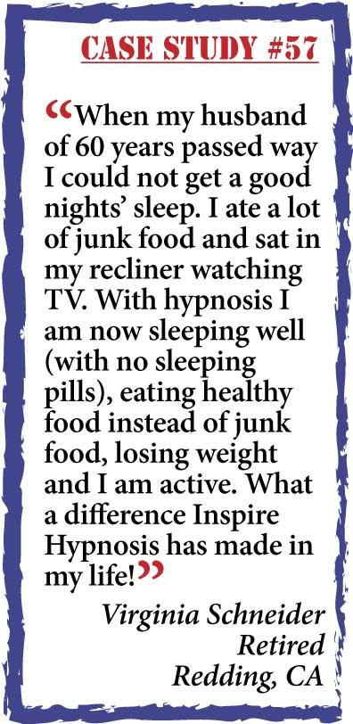 inspire hypnosis case study #57.