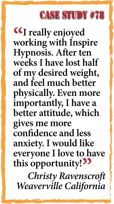 inspire hypnosis case study #78.