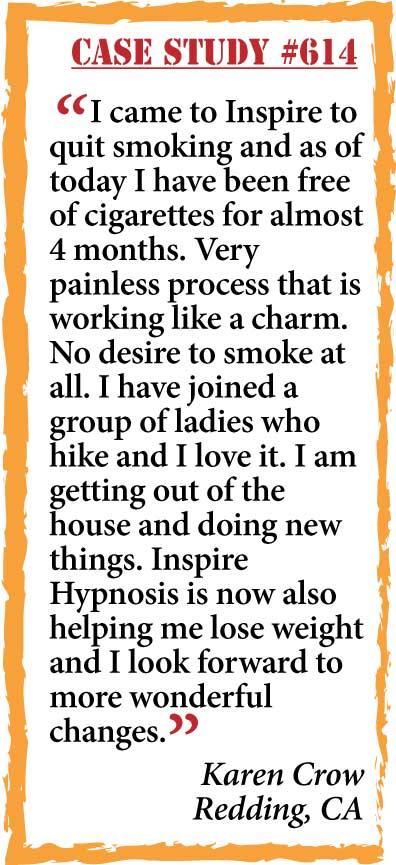 inspire hypnosis case study #614.