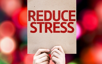 Get stress relief with hypnosis.