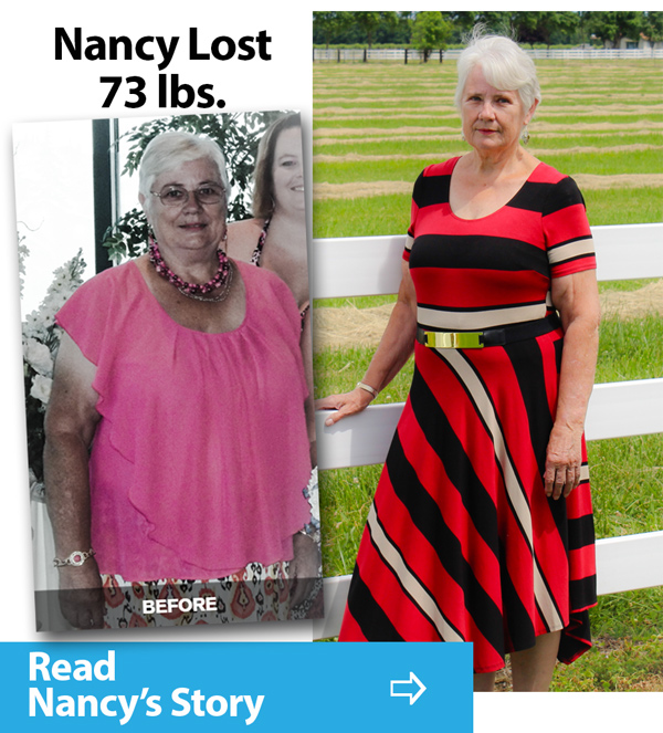 Nancy Trent documents how she lost 73 pounds at inspire hypnosis in redding, ca.
