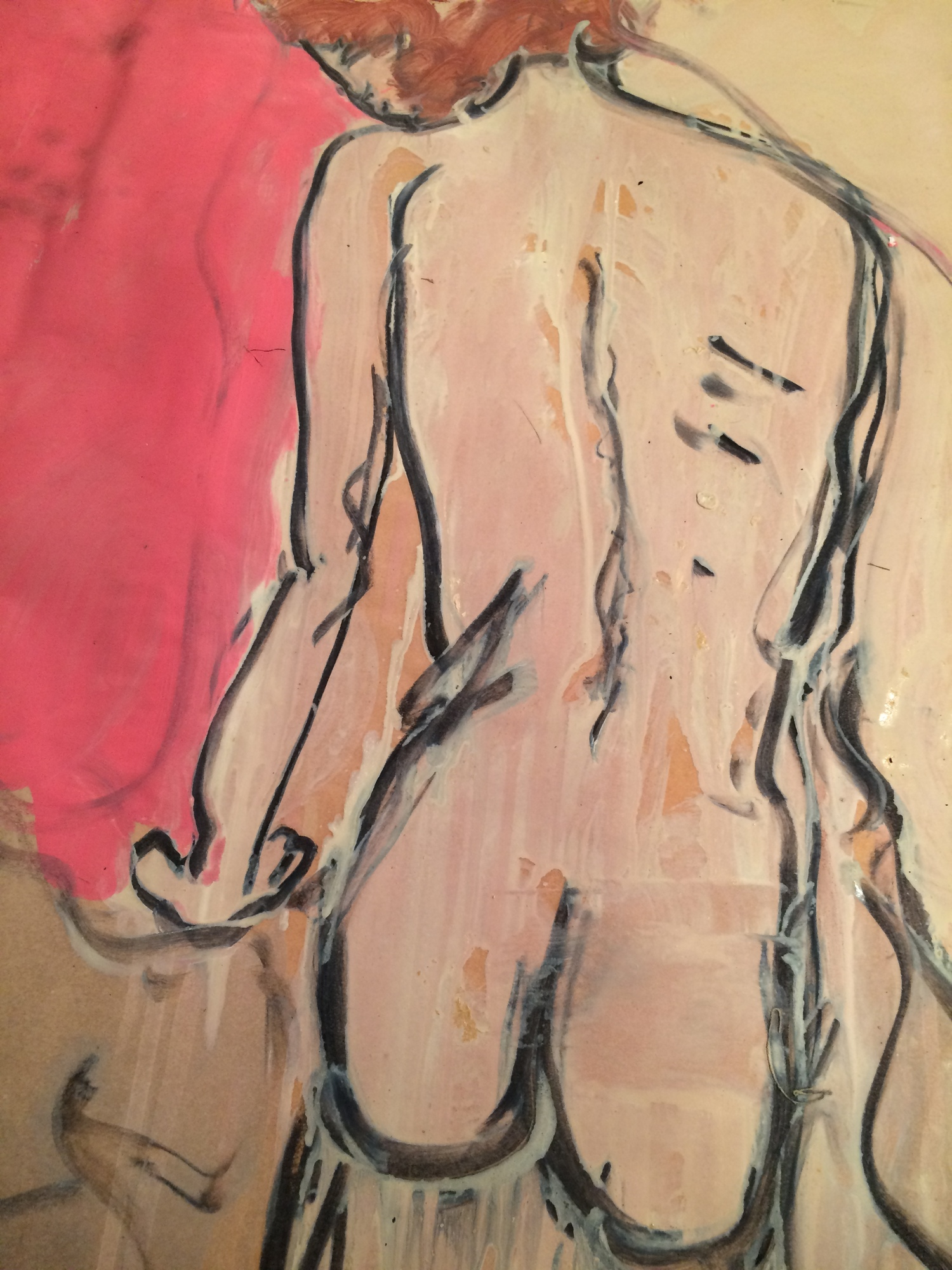 Siobhan Back - Oil/charcoal on paper 30