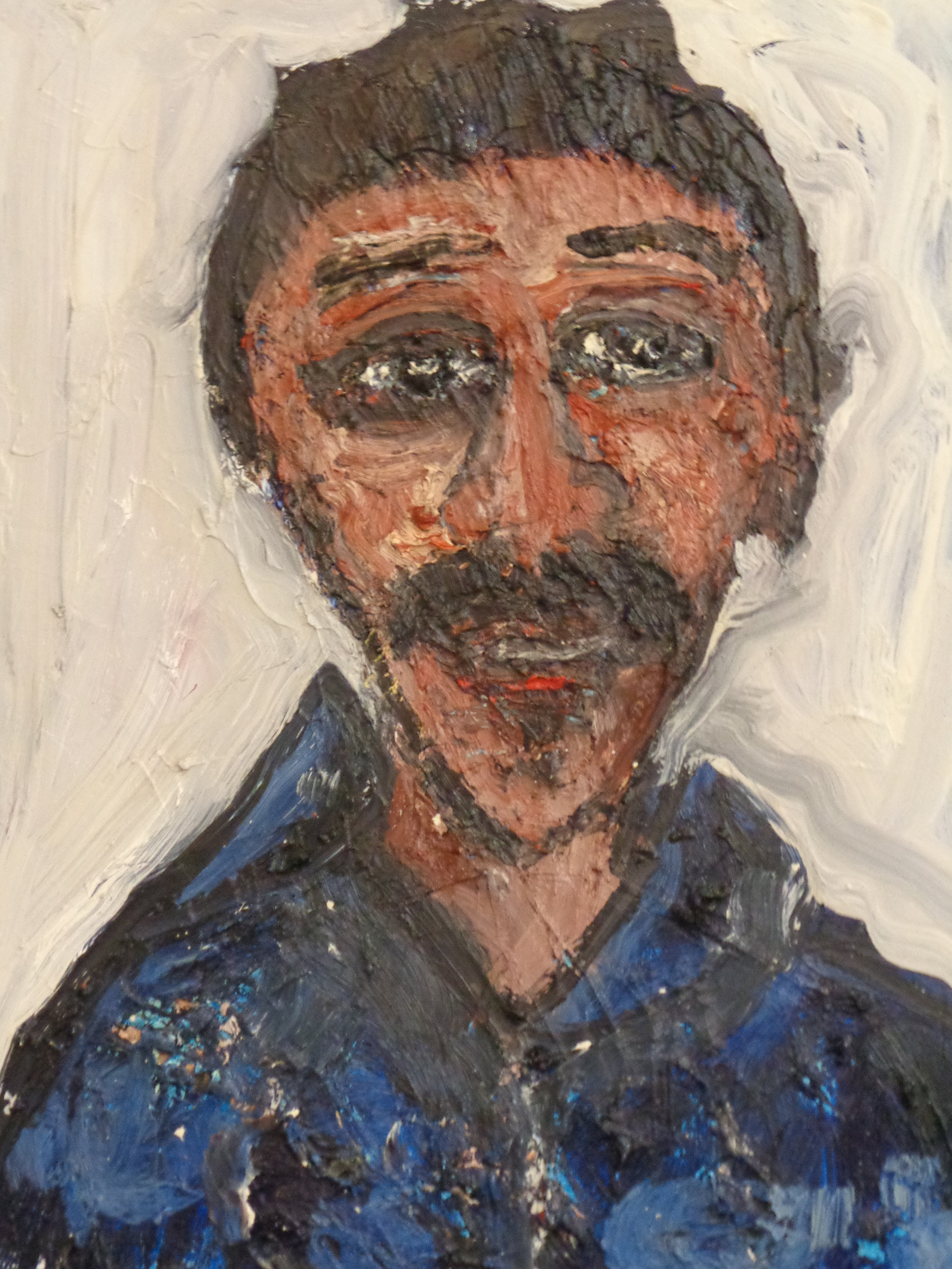Artist, Patrick-Earl Barnes - oil on canvas 2017