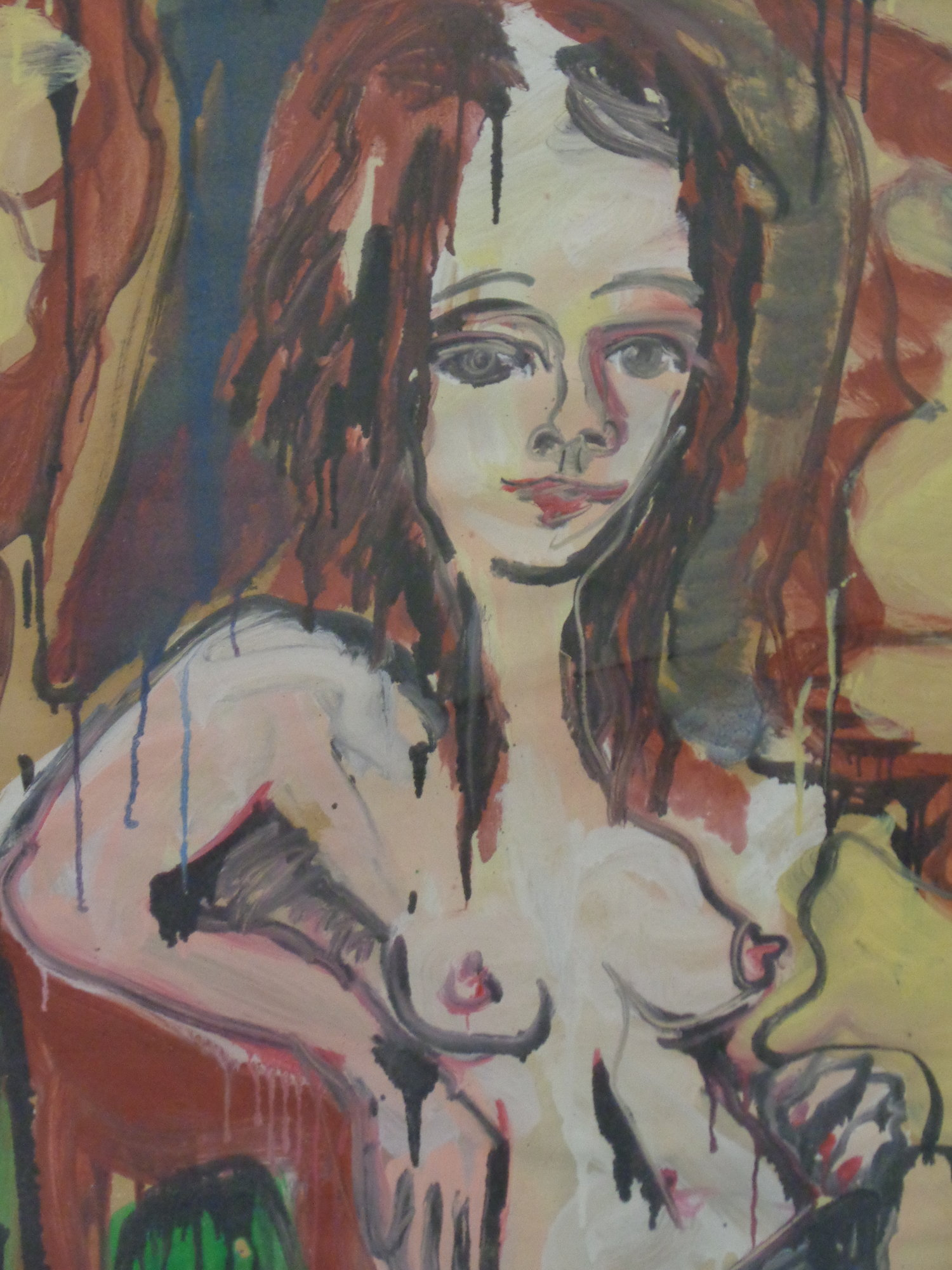 Dorothy Belmonte in Rover's Setee - Oil on paper 2011