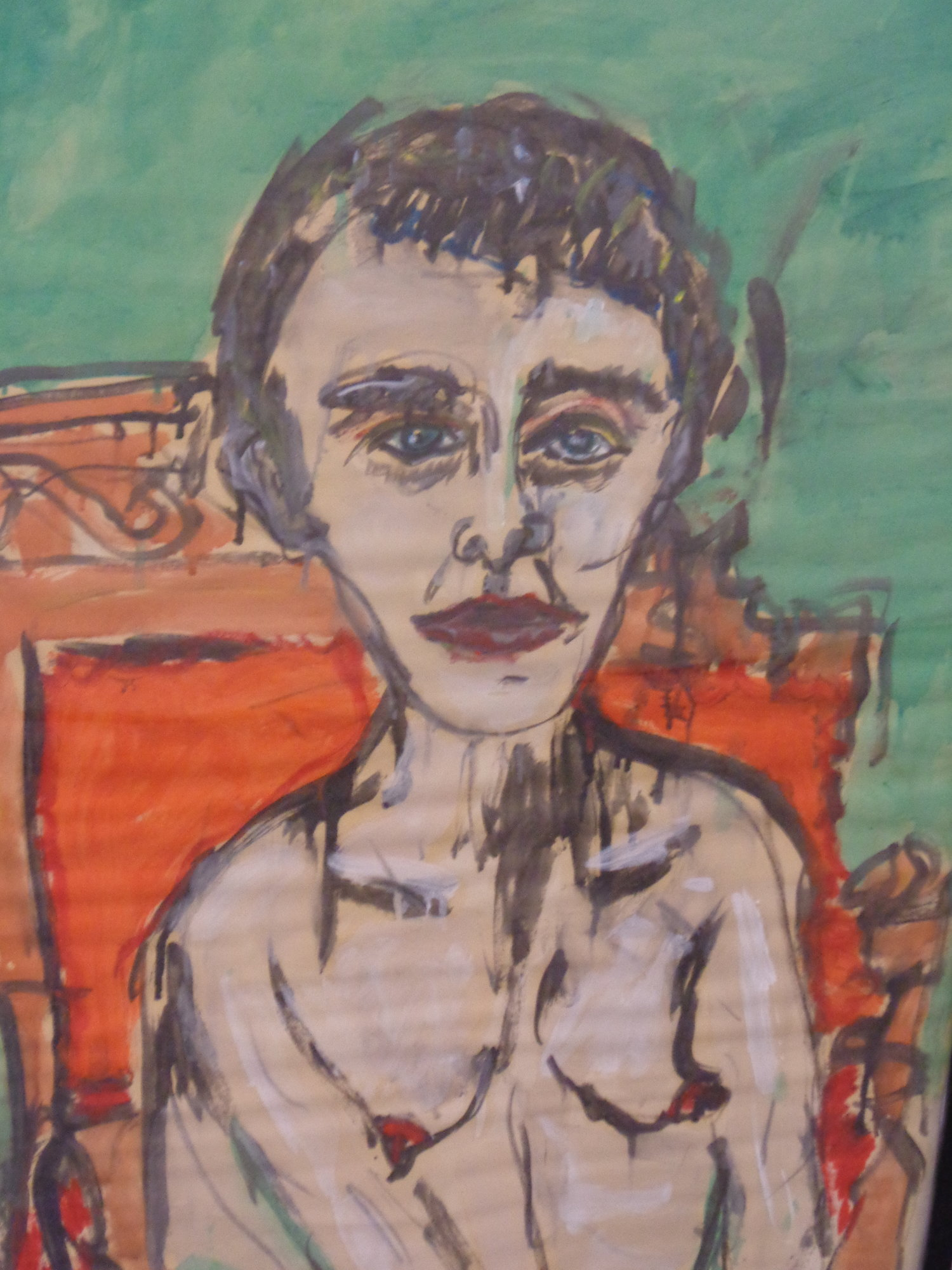 Irina in Rover's Setee - Oil on paper 2013