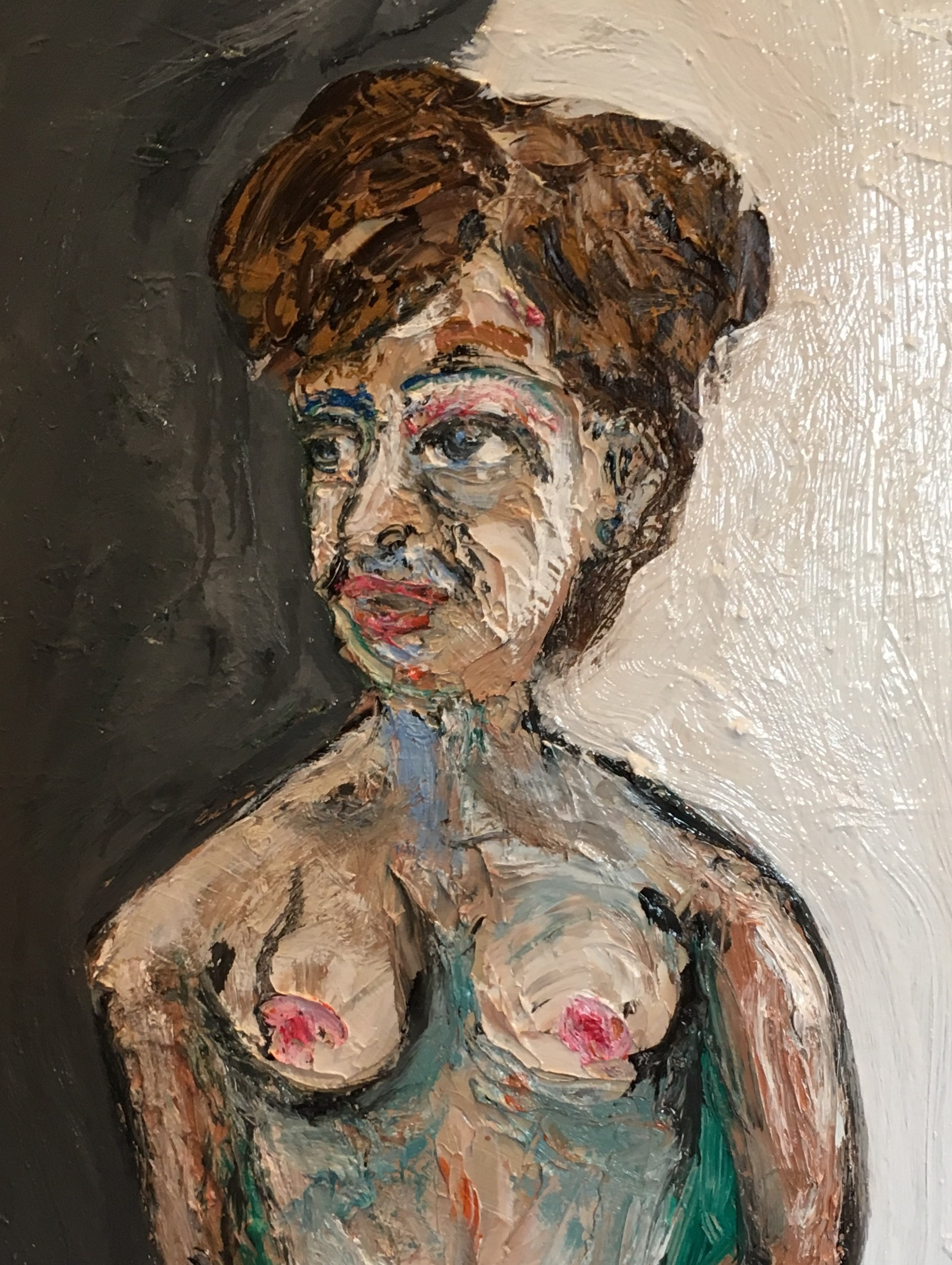 Rachel with Hair Up - oil on canvas 2017